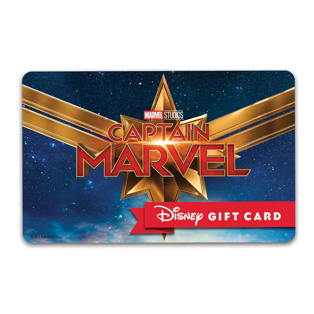 Marvel's Captain Marvel Disney Gift Card