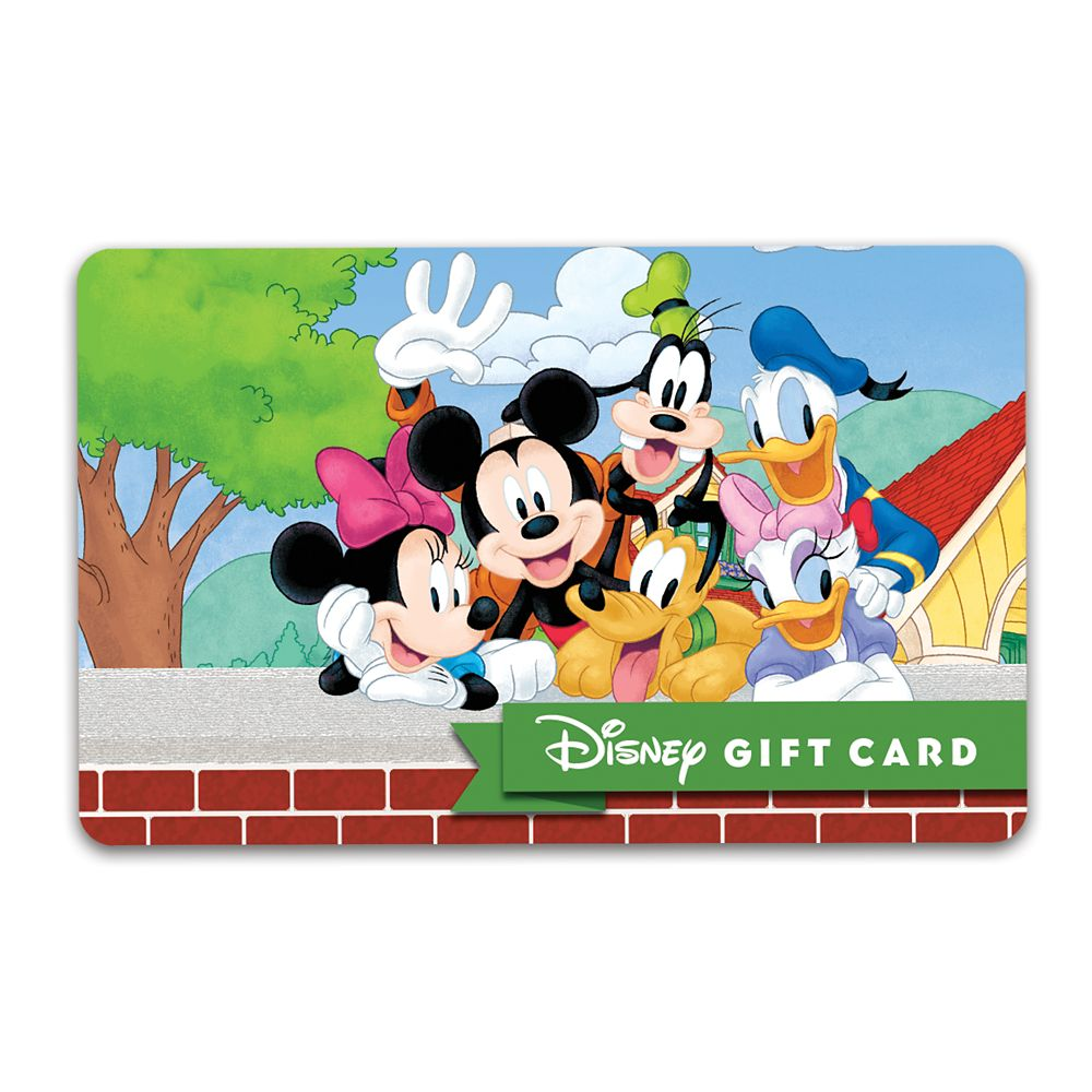 Mickey Mouse and Friends Snapshot Disney Gift Card