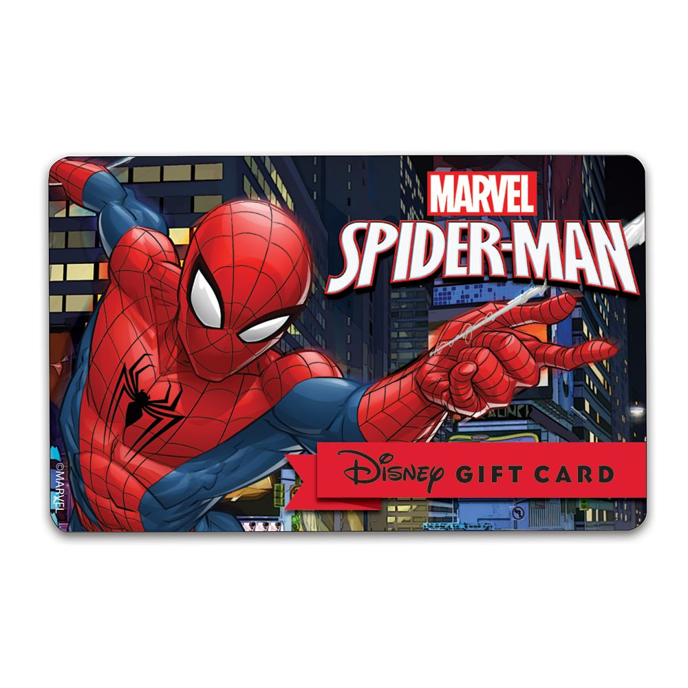 Spider-Man Disney Gift Card