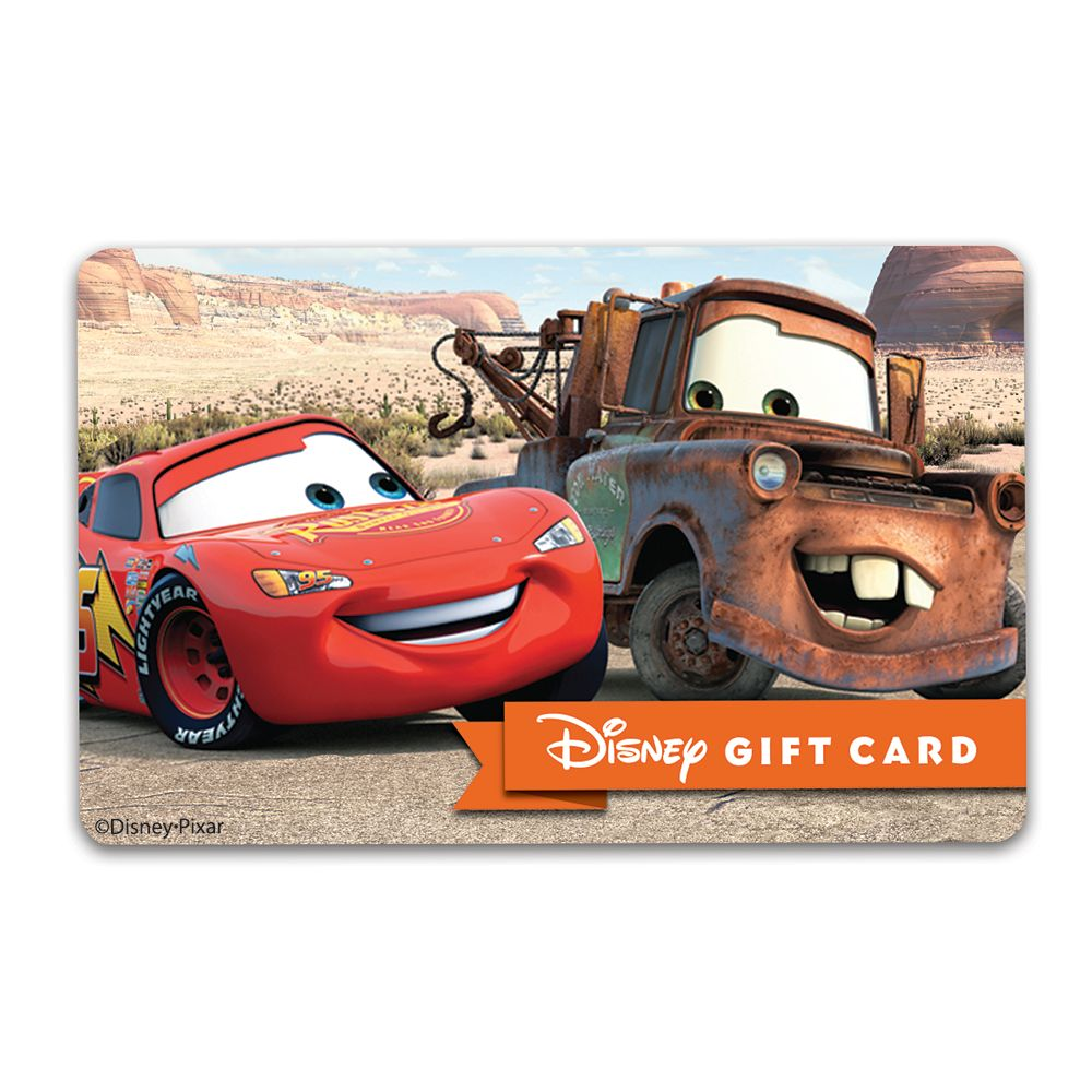 Cars Disney Gift Card