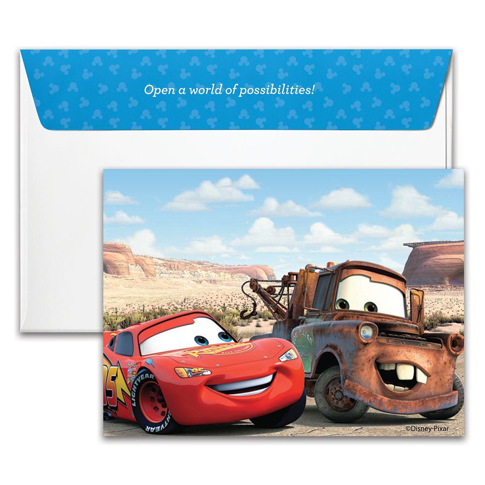 Cars Disney Gift Card