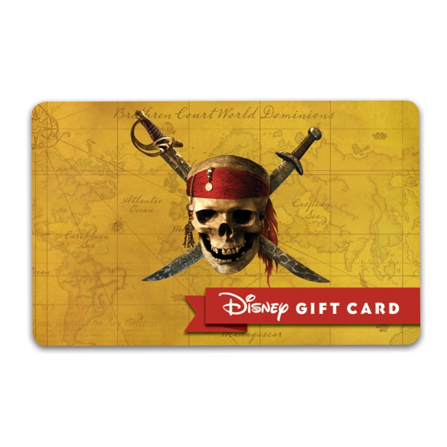 Pirates of the Caribbean Disney Gift Card