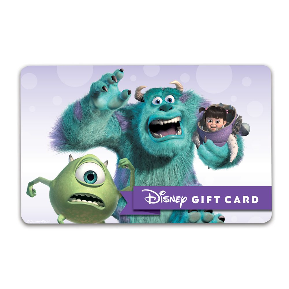 Monsters, Inc. Disney Gift Card