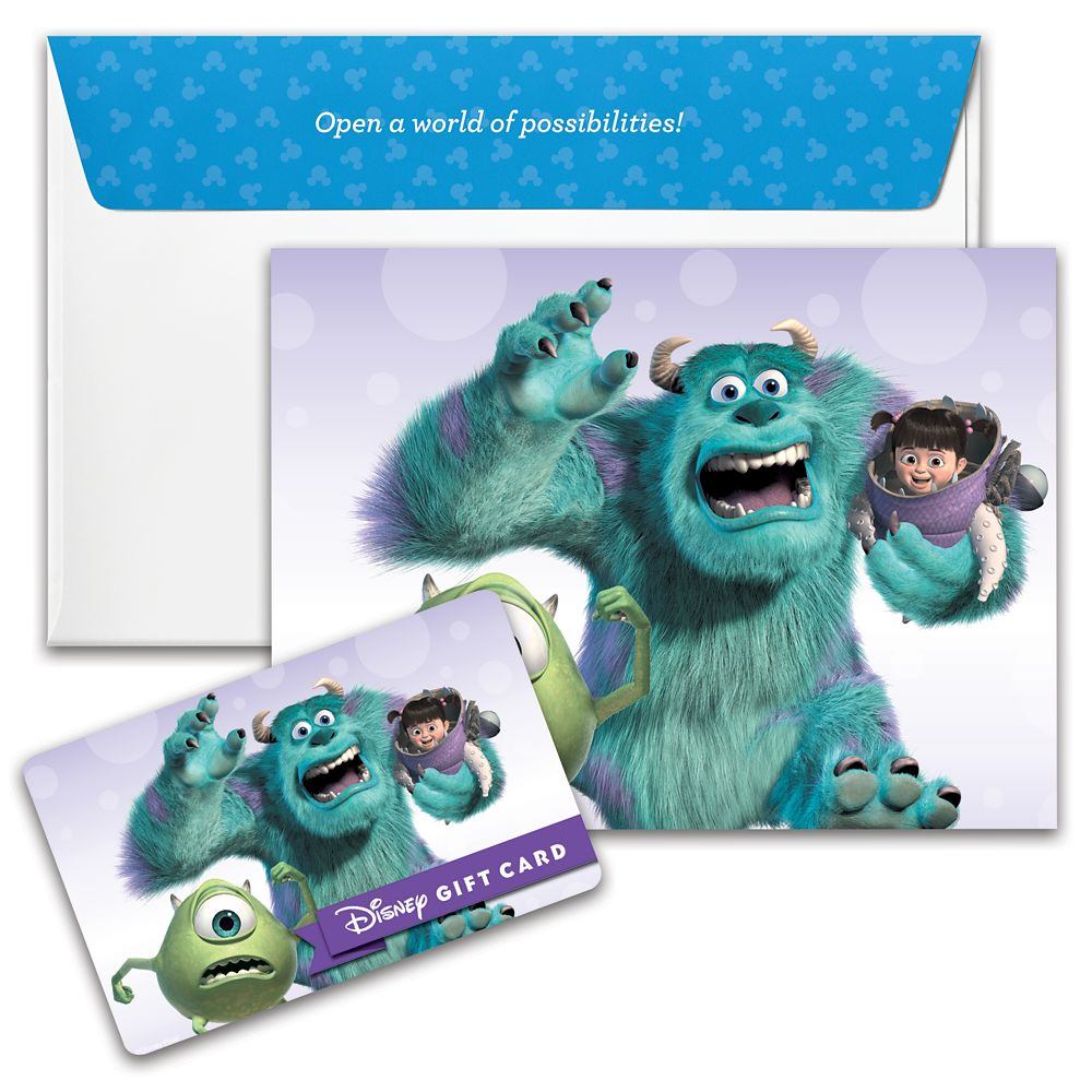 Monsters, Inc. Disney Gift Card
