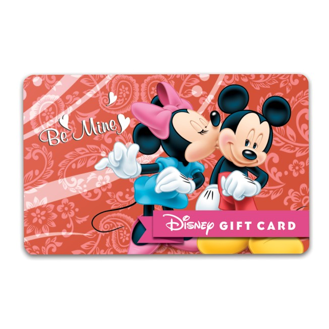 Mickey and Minnie Mouse ''Be Mine'' Disney Gift Card