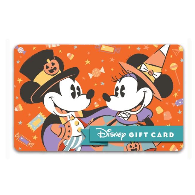 Halloween Disney Gift Card