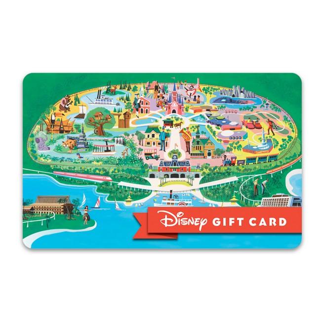 Walt Disney World Retro Map Disney Gift Card