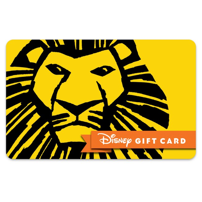 The Lion King Musical Disney Gift Card