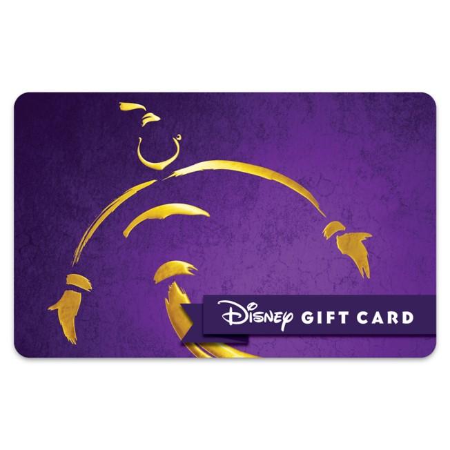 Aladdin The Musical Disney Gift Card