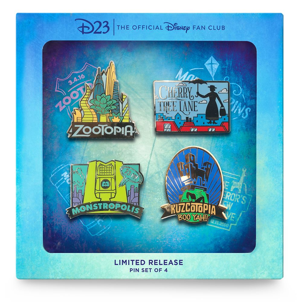D23 Fantastic Worlds Pin Set – Limited Release