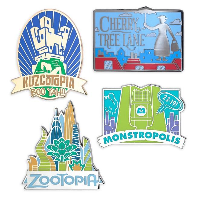 D23 Fantastic Worlds Pin Set – Limited Release
