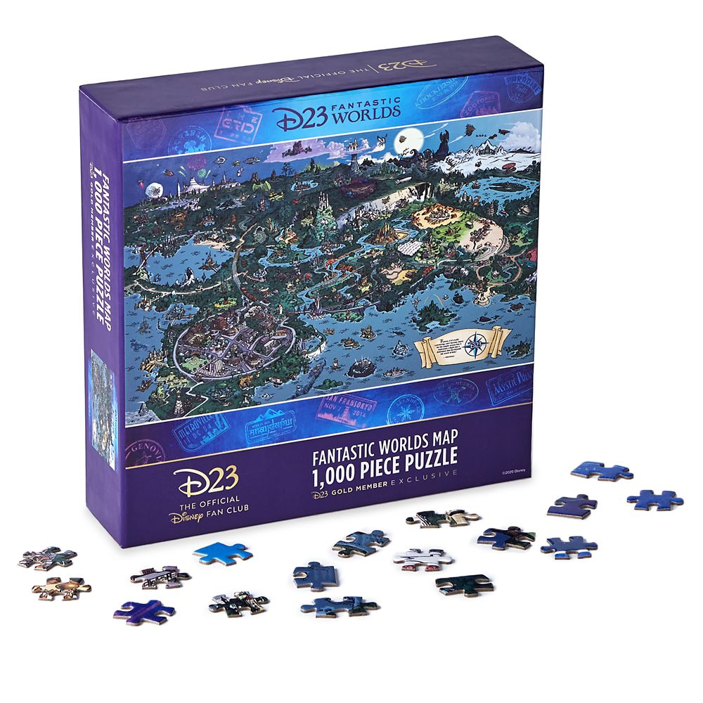 D23 Exclusive Fantastic Worlds Puzzle
