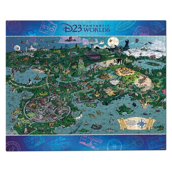 D23 Exclusive Fantastic Worlds Puzzle