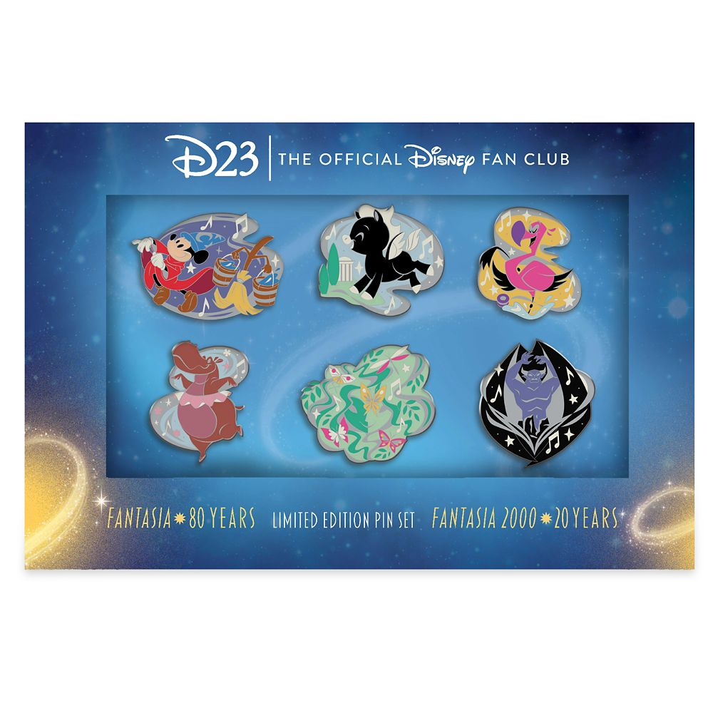 D23 Exclusive Fantasia 80th Anniversary Pin Set