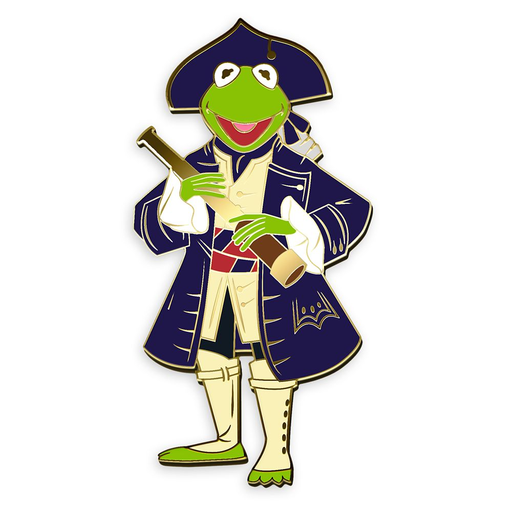 D23 Exclusive Kermit Pin – Muppet Treasure Island 25th Anniversary – Limited Edition