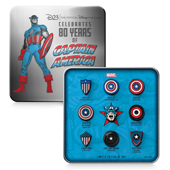 D23-Exclusive Marvel's Captain America Pin Set – Limited Edition