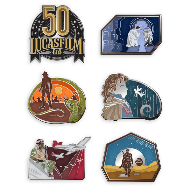 D23 Exclusive Lucasfilm 50th Anniversary Pin Set – Limited Edition