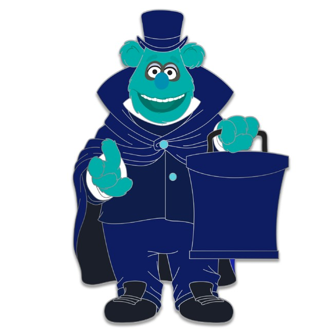 D23 Gold Member Fozzie Bear as Gauzey the Hatbox Bear Pin – Muppets Haunted Mansion – Limited Edition