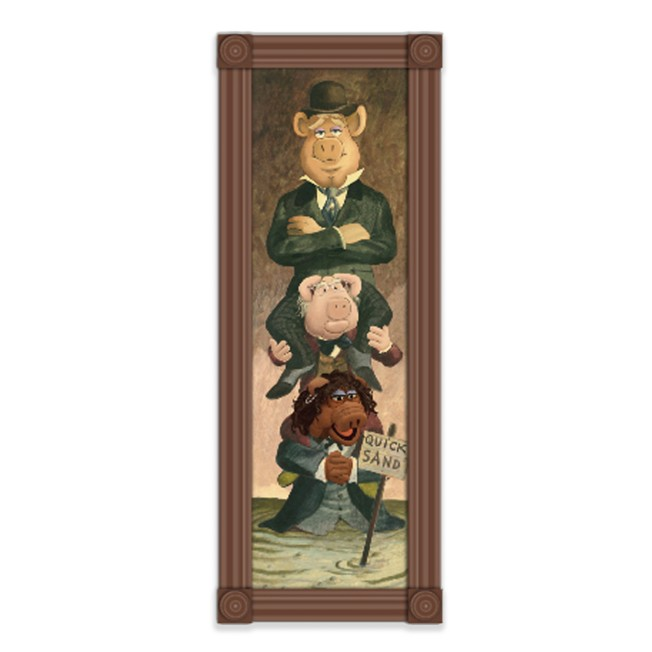 D23 Gold Member Muppet Pigs Stretching Room Portrait Pin – Muppets Haunted Mansion – Limited Edition