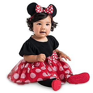 Minnie Mouse Cuddly Costume Bodysuit Collection for Baby - Red