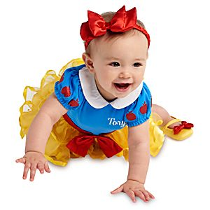 Snow White Disney Cuddly Bodysuit Costume Collection for Baby