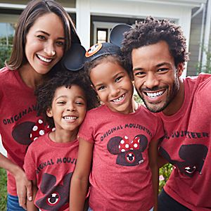 Mickey and Minnie Icon Mouseketeer Family Tee Collection