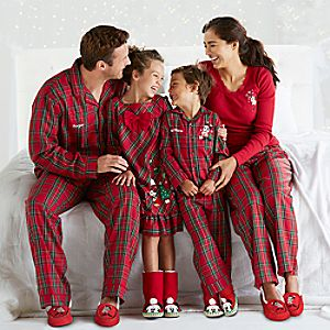 Mickey Mouse and Friends Family Plaid Sleepwear Collection
