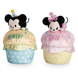 Mickey and Minnie Birthday Mini ''Tsum Tsum'' Plush Collection