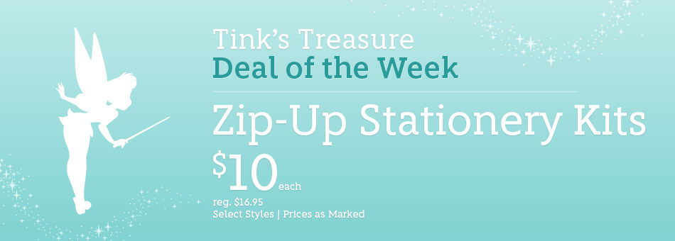 Tink's Treasure - Deal of the Week - Zip-Up Stationery Kits - $10 Each - reg. $16.95 - Select Styles - Prices as Marked