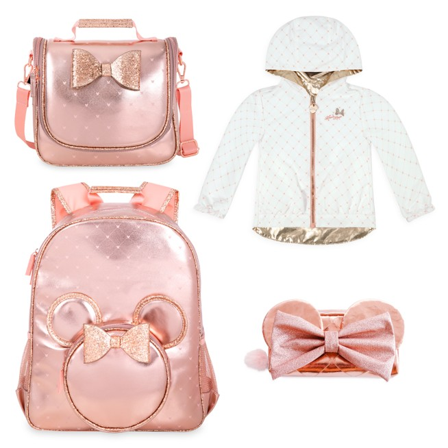 Minnie Mouse Rose Gold Back to School Collection