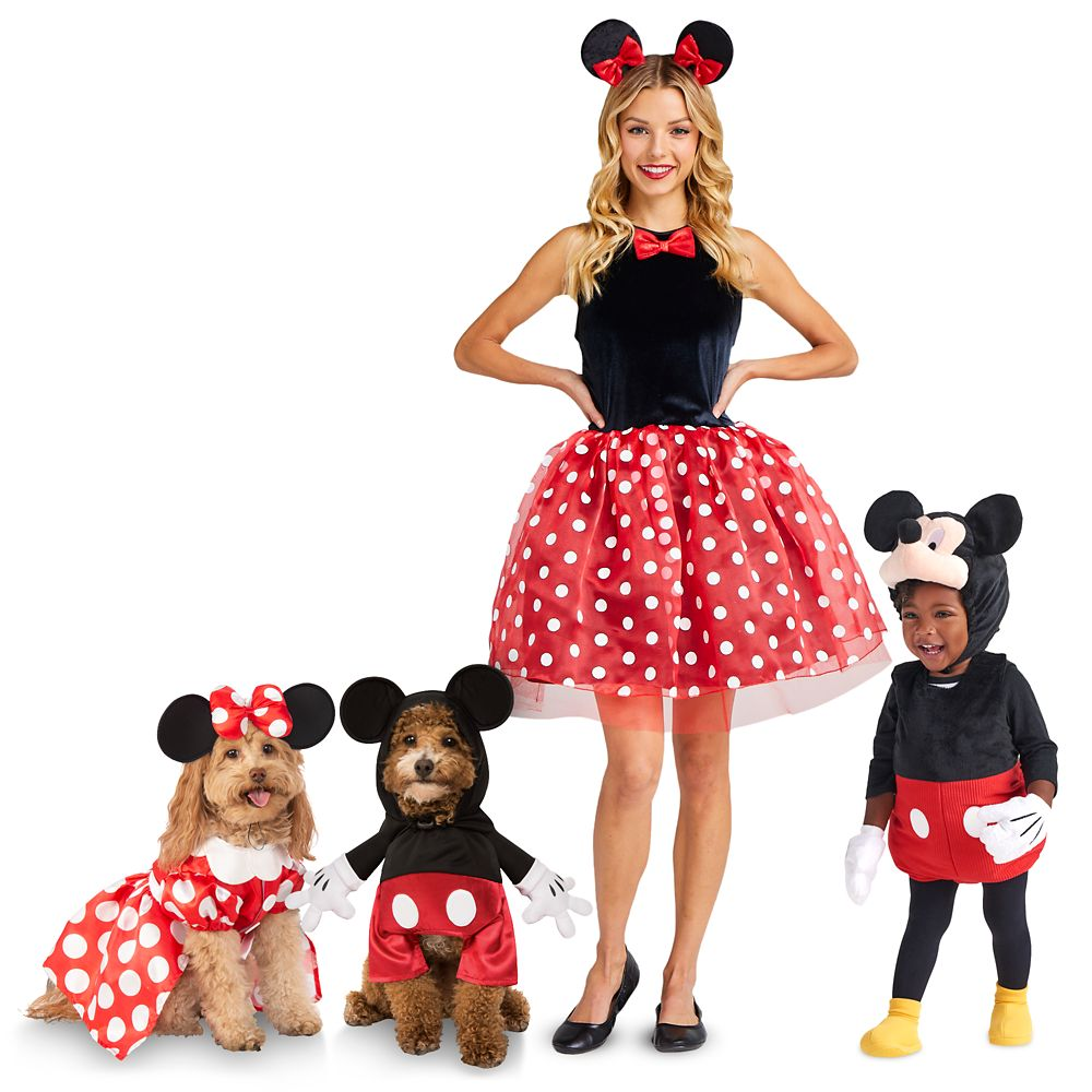 Mickey and Minnie Mouse Family Costume Collection