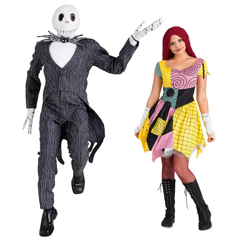 Jack Skellington and Sally Costume Collection for Adults