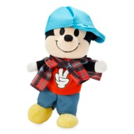 Mickey Mouse Disney nuiMOs Plush and Tank Shirt with Blue Cap and Plaid Flannel Set