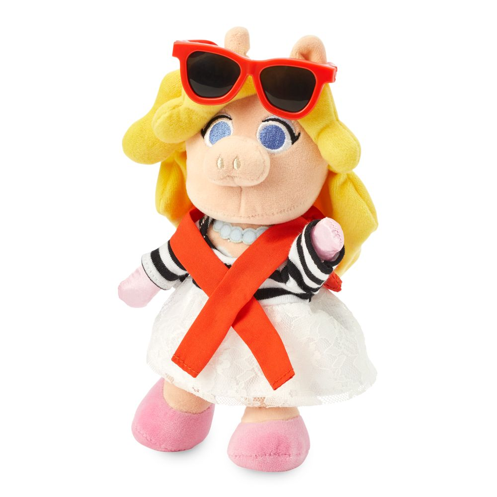 Miss Piggy Disney nuiMOs Plush with Striped Shirt, Red Sweater and Sunglasses – The Muppets