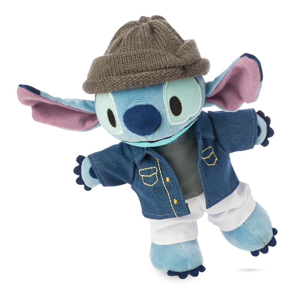 Stitch Disney nuiMOs Plush and Denim Jacket and Knitted Hat Set