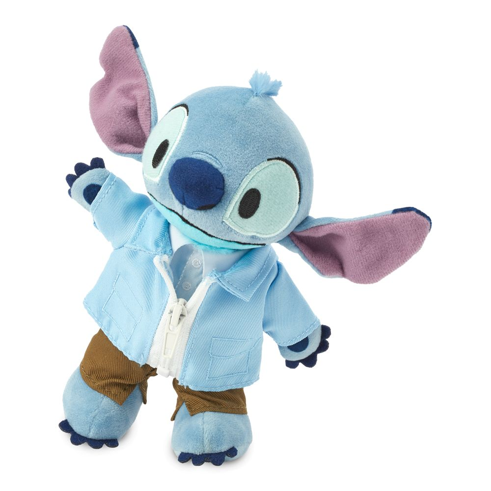 Stitch Disney nuiMOs Plush and Blue Jacket with Army Green Pants Set
