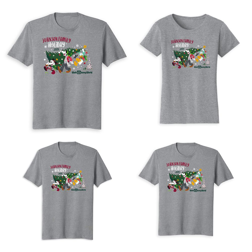 Mickey Mouse and Friends Walt Disney World Family T-Shirts – Holiday 2019 – Customized