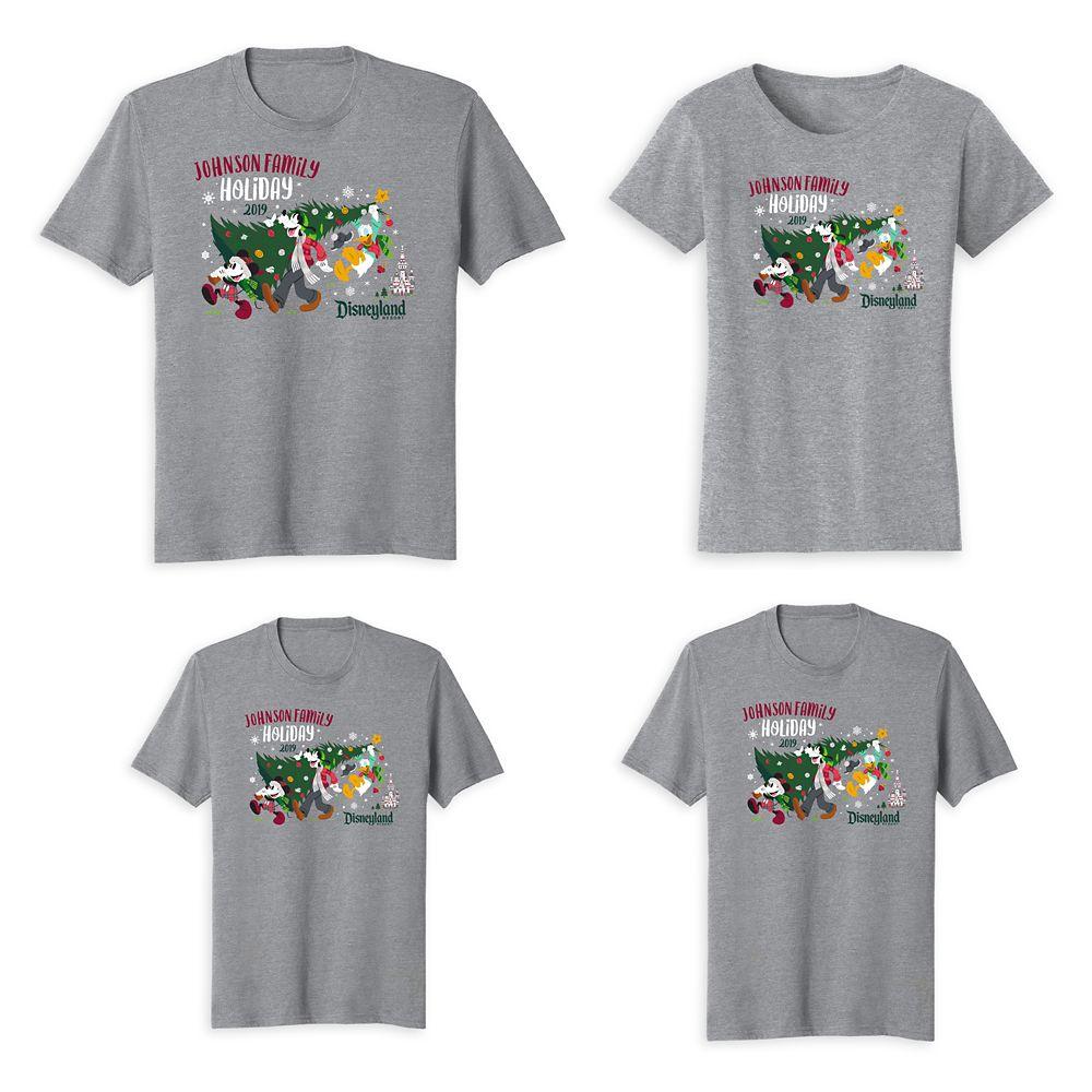 Mickey & Friends Disneyland Family T-Shirts – Holiday 2019 – Customized