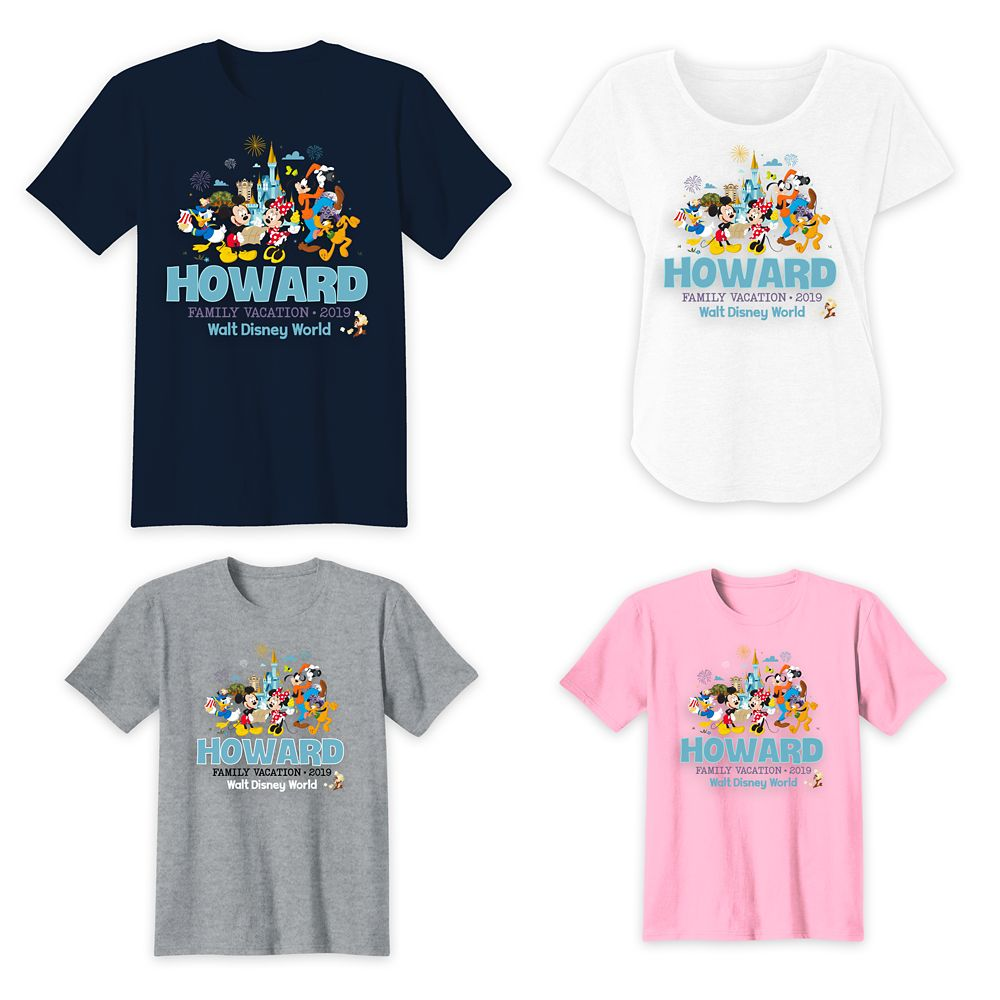 Mickey Mouse and Friends Walt Disney World Family Vacation T-Shirts – Customized
