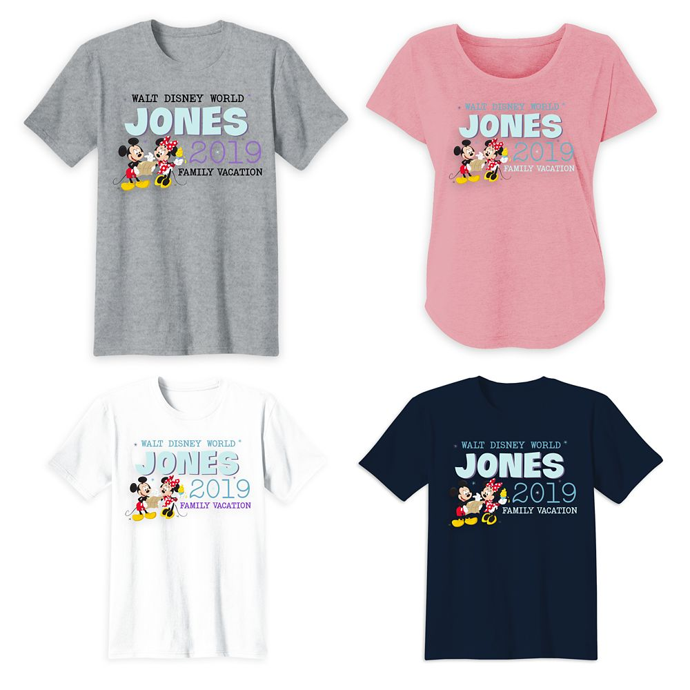 Mickey and Minnie Mouse Walt Disney World Family Vacation T-Shirts – Customized
