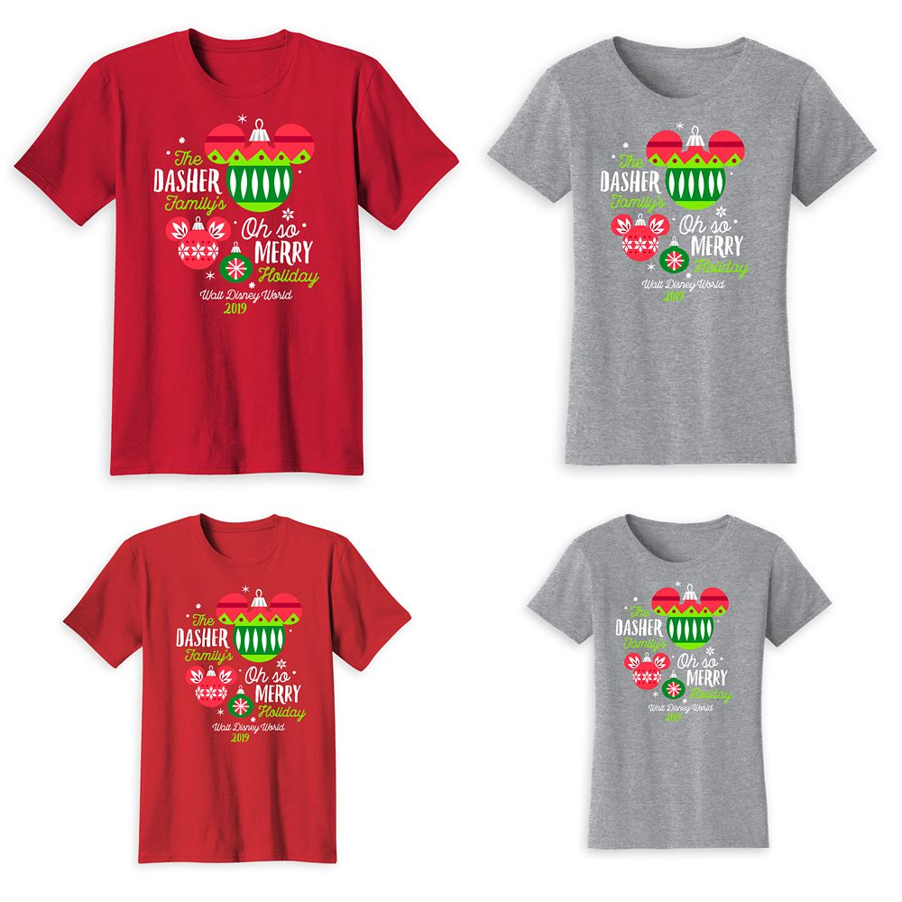 Walt Disney World Oh So Merry Family T-Shirts – Holiday 2019 – Customized