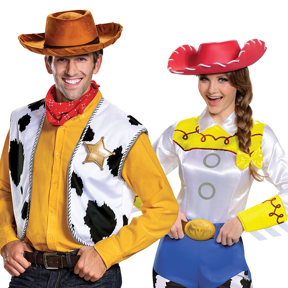 Woody and Jessie Costume Collection for Adults – Toy Story