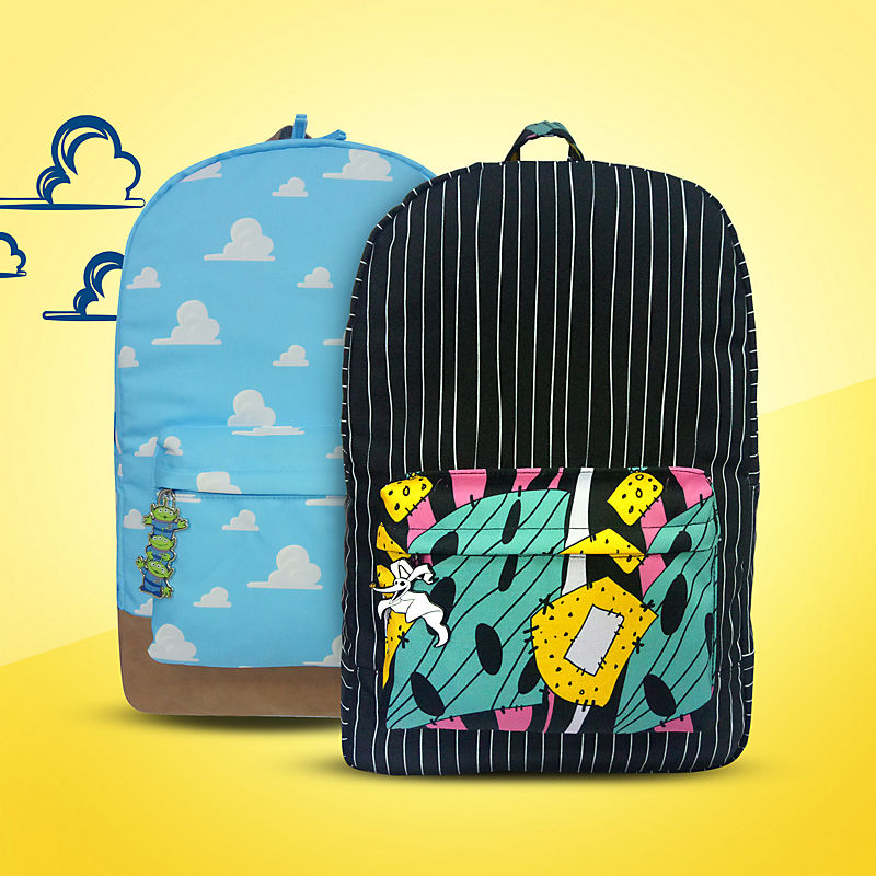 Toy Story and Nightmare Before Christmas backpacks