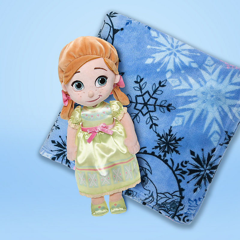 Anna plush doll and Frozen fleece blanket