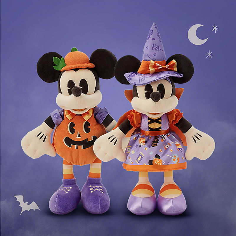 Mickey Halloween Pumpkin Plush Minnie Halloween Witch Plush