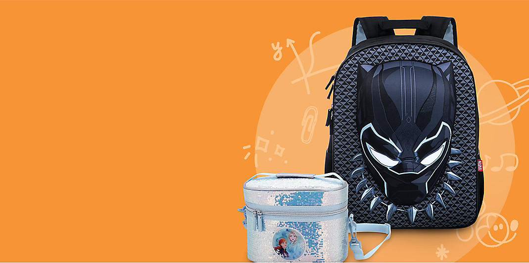 Black Panther backpack Frozen lunch box