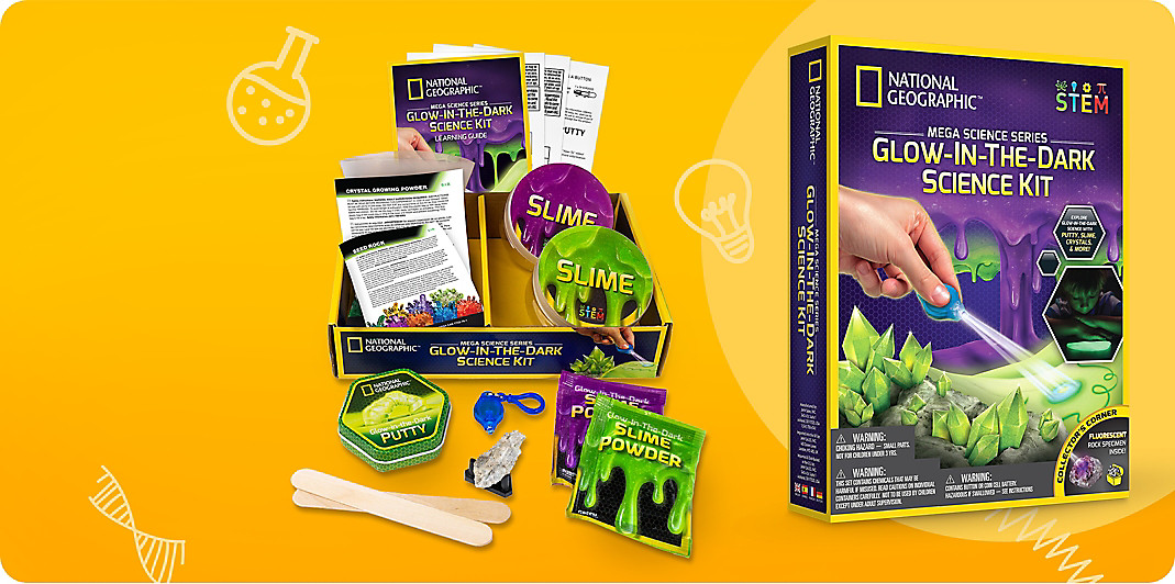 National Geographic Glow in the Dark science kit