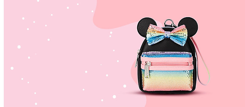 Minnie bow sequined mini backpack wristlet