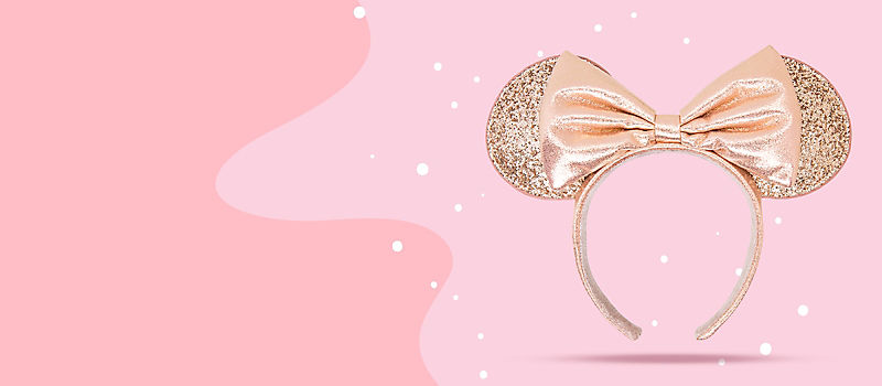 Minnie rose gold sequin ear headband