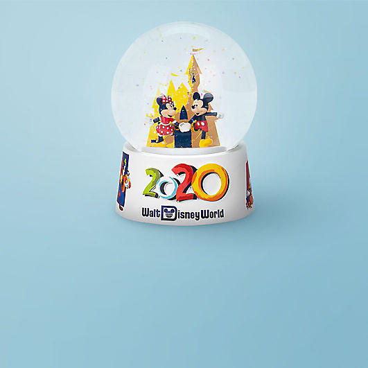 Mickey and Minnie 2020 snowglobe